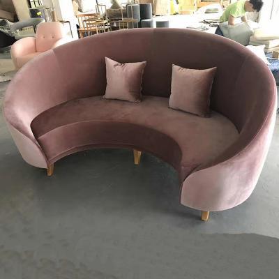 轻奢圆弧形沙发 简约创意设计酒店 室内设计师异形沙发 别墅会议沙发