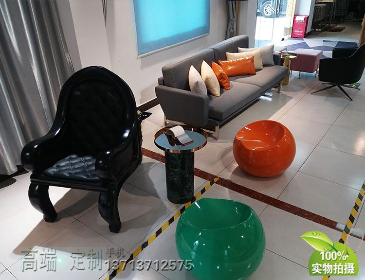 意大利 皮埃尔• 里梭尼双人三人沙发布艺皮革真皮小户型样品沙发