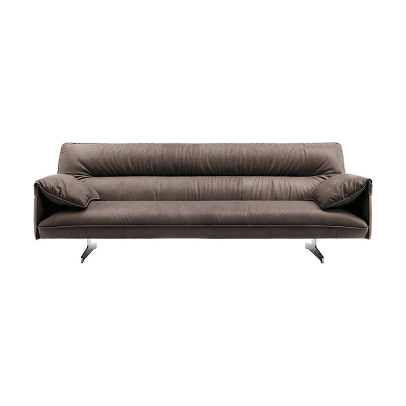 意大利保拉纳沃内Paola Navone设计师别墅双人沙发 304不锈钢脚多人位沙发