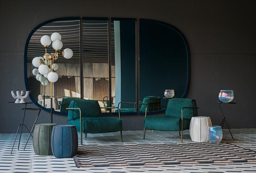 2018年巴克斯特百特布鲁塞尔沙发椅 毛绒丝条 皮革 不锈钢电镀铜色金色铁烤漆 单人位休闲椅