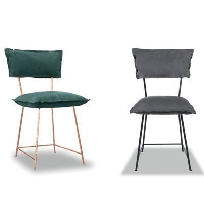 百特巴克斯特保拉·纳沃内 意大利设计师家具不锈钢镀铜布艺皮革真皮餐椅洽谈椅酒店售楼椅 方形材料工业家具