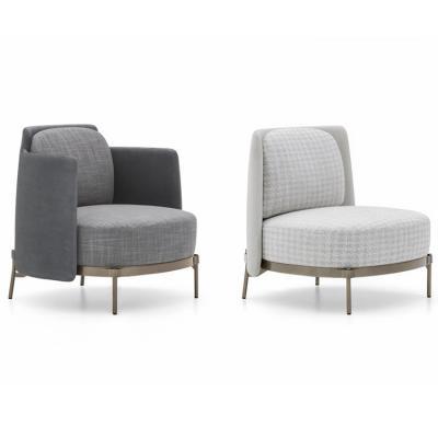 磁带胶带沙发椅 不锈钢电镀脚架超软体沙发休闲椅 低背高背无扶手椅