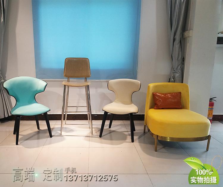 意大利设计师罗伯特餐椅 电脑椅 休闲椅 洽谈椅 会议椅酒店会所餐椅玻璃内架坚固耐用 结实美观大方版正 服装店摆设椅美容椅