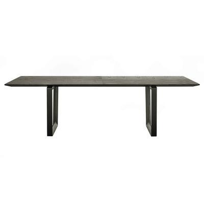 意大利波尔托那•弗劳 Roberto Lazzeroni 实木大餐桌餐椅组合 会议桌 简约时尚办公桌