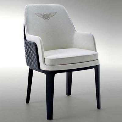 BENTLEY HOME Refined Kendal chair宾利家居肯德尔刺绣皮餐椅椅子 实木脚双面软包装饰皮革西皮超纤真皮