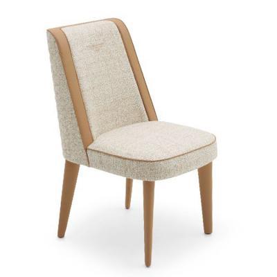 BENTLEY宾利家具STAMFORD CHAIR斯坦福德椅休息椅客厅餐椅实木布艺皮质包边 家用商用