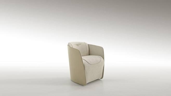 宾利家具家居定制 橄榄球扶手椅 皮革布艺西皮超纤仿真皮 休闲椅单人沙发椅