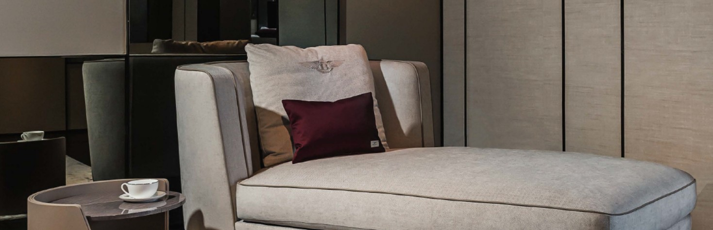 宾利家具斯坦福躺椅 BENTLEY HOME STAMFORD CHAISE LOUNGE 情侣单人贵妃沙发椅宾馆酒店沙发