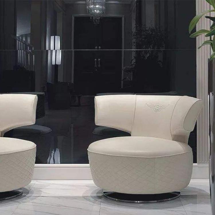 宾利家具牛角椅休闲椅单人沙发椅BENTLEY HOME  BULL 不锈钢金色脚电镀无指纹