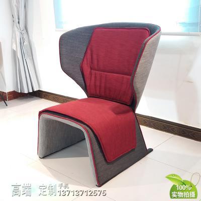 北欧设计师玻璃钢内架稳固耐用情侣休闲椅 情人椅 沙发椅多色软包 内架可回收