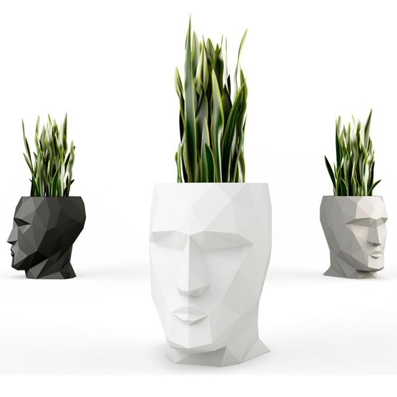 VONDOM设计师特雷莎·莎佩阿丹花园花瓶茶几凳子两用  Teresa Sapey  ADAN vase 玻璃人脸花瓶花盘花器