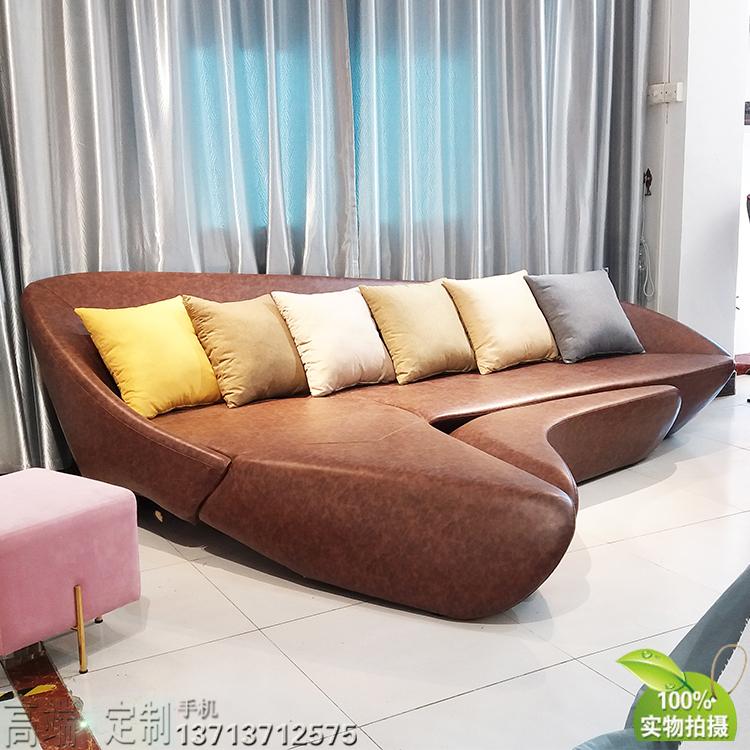 2020年 实物玻璃钢沙发 MOON SOFA SYSTEM扎哈月亮沙发 酒店沙发