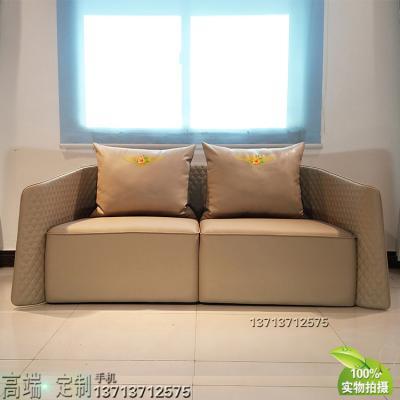 英国意式设计家具定制 单人双人三人位沙发压线 超纤皮西皮PU家用商用