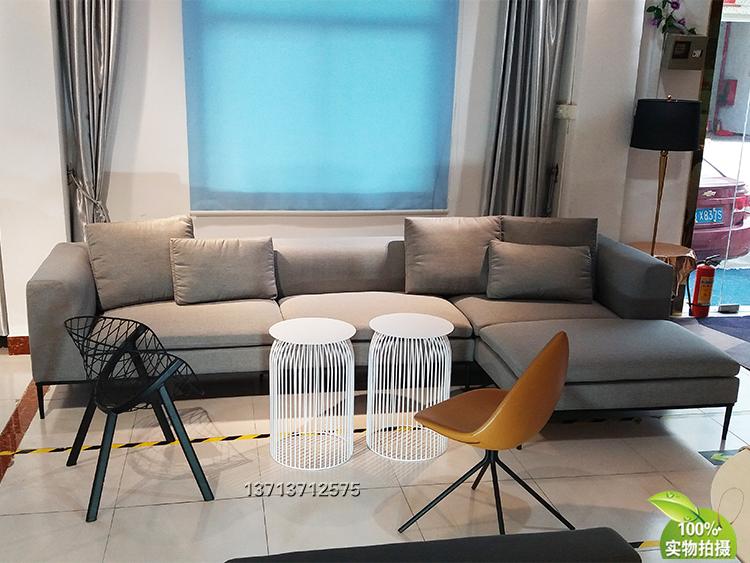 大牌意大利北欧设计师沙发 Sofa 异形锥形脚架 铁烤漆不锈钢电镀 3.4米长意式沙发