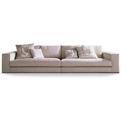 双人三人沙发意大利品牌:Minotti直线型一字型办公家用商用多用途用途酒店会所家具定制 不锈钢电镀拉丝脚实木框架