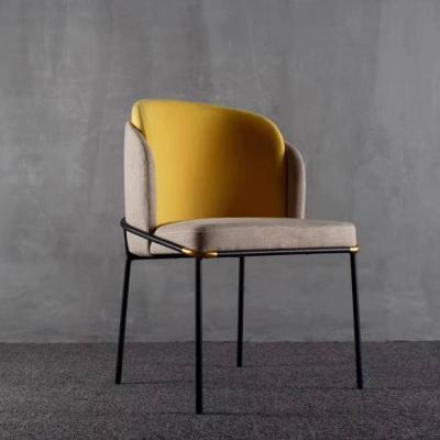 实物巴克斯特 奢意式餐椅 靠背沙发椅酒店别墅会所餐厅椅咖啡店售楼处