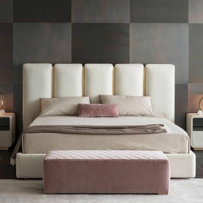意大利RUGIANO 床铺/床头柜/脚踏系列大全 俱乐部/肯尼亚/时尚 床铺五金不锈钢电镀皮质布艺床定制
