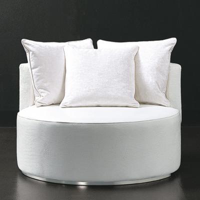 意大利RUGIANO 圆形椅系列 餐椅休闲椅 爱情座椅 不锈钢电镀皮革布艺单人沙发椅