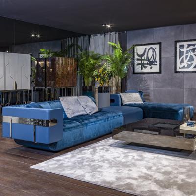 意大利品牌Longhi 华人设计师吴滨 沙发系列作品集 2019年新款不锈钢电镀五金软包硬包 实木三人四人 多人沙发组合沙发