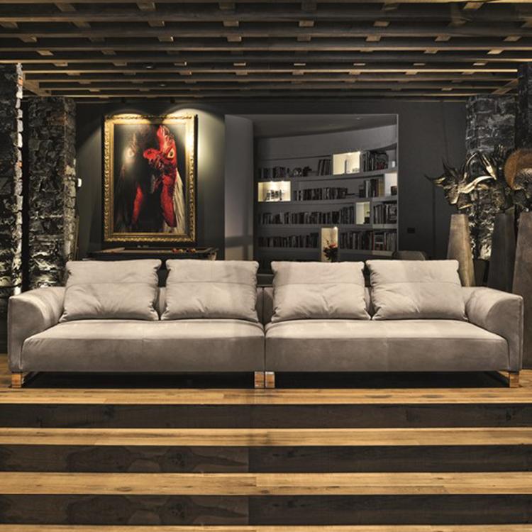 意大利 Longhi 双人多人沙发系列 不锈钢实木铁艺布艺皮质真皮颜色面料可定制 组合沙发
