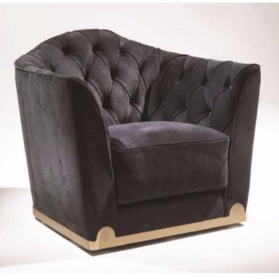 意大利Longhi 单人沙发休闲椅系列  不锈钢五金电镀烤漆布艺皮质 真皮皮革拉扣欧式家具定制