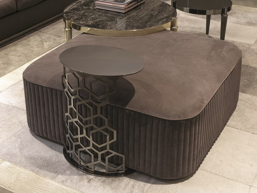 意大利Longhi 凳系列 坐垫凳 墩|榻|卵石 Stool  不锈钢大理石实木布艺皮质规格材质可定制家具