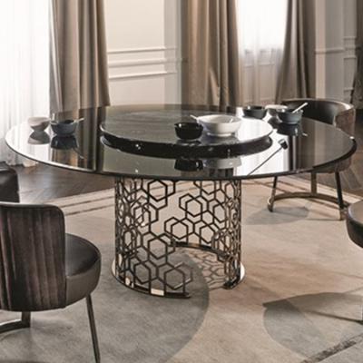 Longhi餐桌系列 意式利风格品质家具新款上市 大理石不锈钢五金电镀 实木质感餐桌办公室会议桌大长桌家具定制