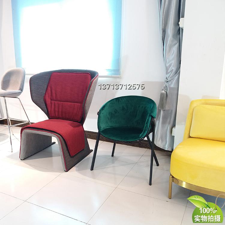 餐椅休闲椅铁烤漆防掉漆椅 半圆内胆软包涤棉 不锈钢电镀家用商用