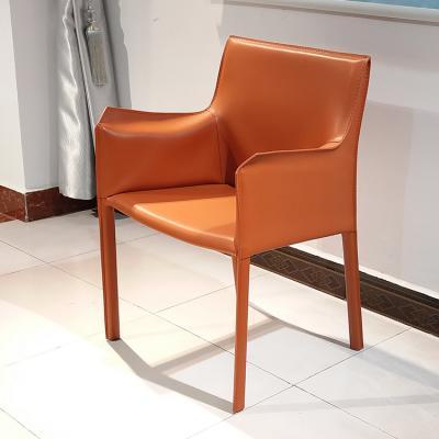 现货!马鞍皮网钢铁内架扶手餐椅 洽谈椅 会议酒店餐厅酒吧会所别墅椅