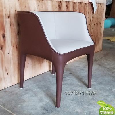 意大利吉奥热蒂戴安娜扶手椅餐椅 洽谈椅不变形 耐用坚固可回收再生产以旧换新超纤皮西皮皮革布艺椅子