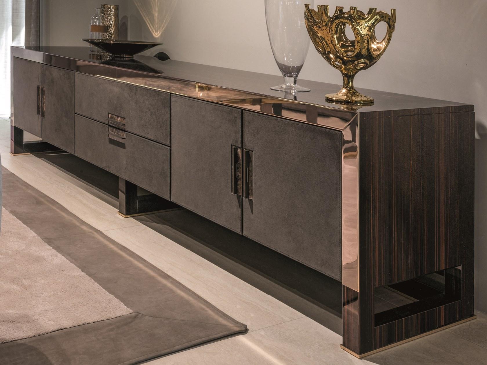 意大利Longhi 2019年新品 不锈钢电镀实木硬包软包柜  ARMAD电视柜 置物柜 抽屉储物柜轻奢家具定制