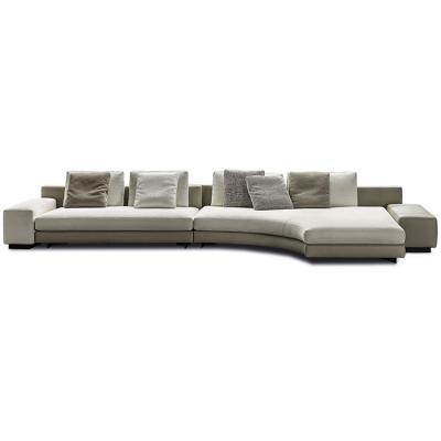 意大利Minotti 2019年新款 丹尼尔斯沙发 不锈钢素钢实木大理石组合茶几沙发 多人沙发连体