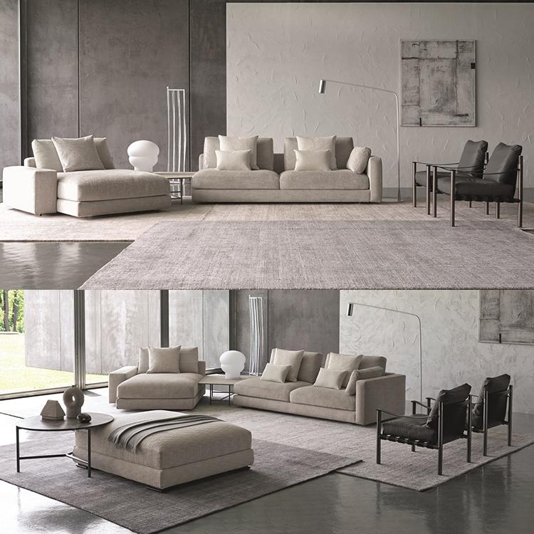 意大利Flou Emanuela Garbin 2019年新品 MYPLACE沙发 方块布艺皮质沙发规格可定制