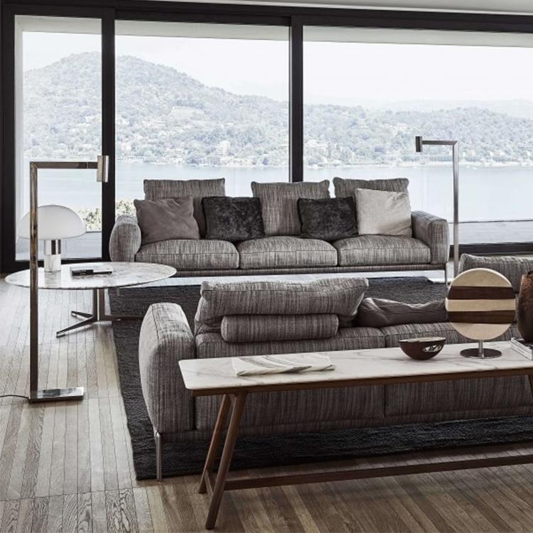 意大利Flexform 2019年新品 Antonio Citterio设计罗密欧沙发 金属异同形脚架 极简简洁双人三人多人沙发