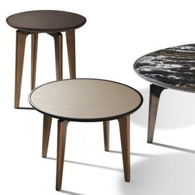 意大利 Giorgetti 设计师Carlo Colombo 茶几边几角几 不锈钢金属大理石实木家具
