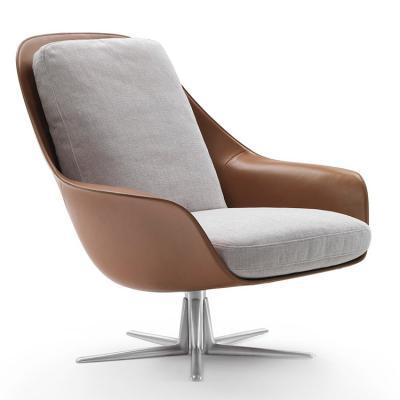 意大利Flexform 2018年新品 旋转休闲椅 Carlo Colombo SVEVA沙发椅 玻璃钢内架不锈钢脚架椅子