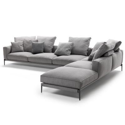 意大利Flexform 2019年新品 Antonio Citterio设计罗密欧沙发 金属异同形脚架 极简简洁L形贵妃转角多人沙发