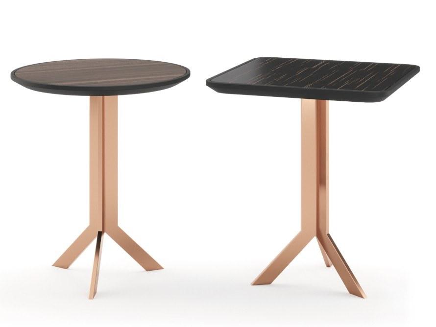 葡萄牙PRADDY  JOCKEY coffee table 不锈钢电镀实木茶几家具穿高根鞋 展现灵动之美   艺术享受