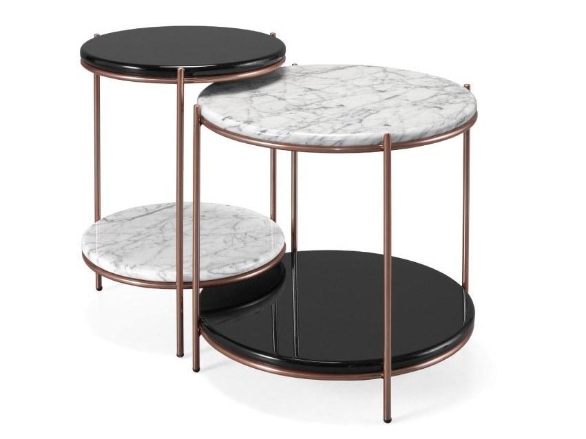 葡萄牙Portugal  PRADDY STANLEY tea coffee table 玫瑰金大理石实木几面茶几边边几角边不锈钢电镀钢铁喷砂漆金色铜色