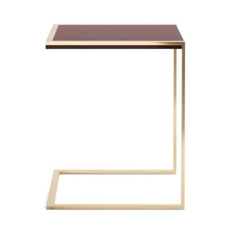 葡萄牙轻奢极简家具 PRADDY WILD tea coffee table 茶几边几小户型不锈钢大理石实木金色