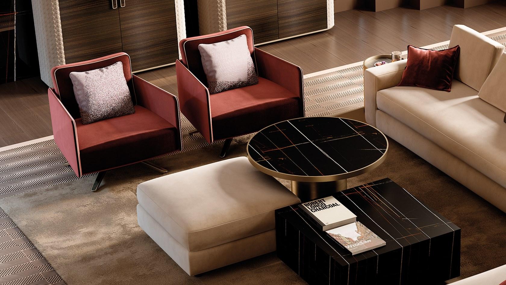 意大利 Reflex Emanuele Missaglia DIAMANTE sofa 钻石沙发 布艺真皮不锈钢沙发休闲椅