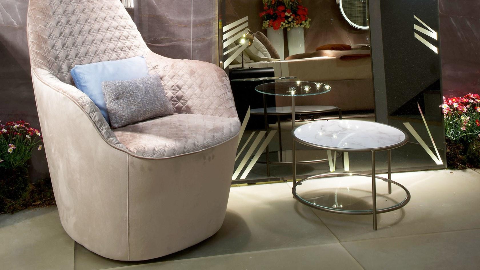 意大利设计师 Reflex  EGEO Tea table  Gianmarco Codato, Luciano Trevisiol  埃戈茶几不锈钢无指纹技术钢化玻璃