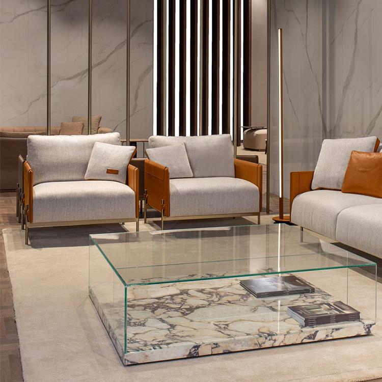 意大利 阿斯顿马丁 Aston Martin 单人沙发椅 不锈钢铜色金色黑色马鞍皮超纤仿真皮极简家具