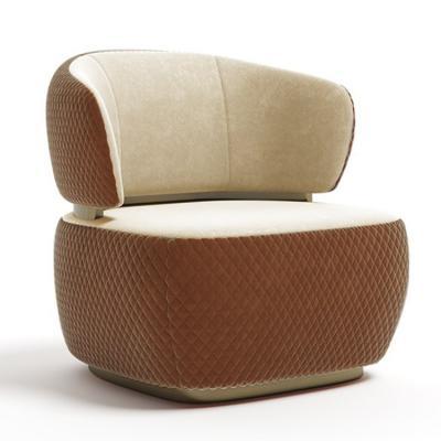 2019年新品 意大利 capital collection Bon ton easy chair安乐椅 不锈钢拉丝电镀无指纹清油布艺软包面包沙发椅