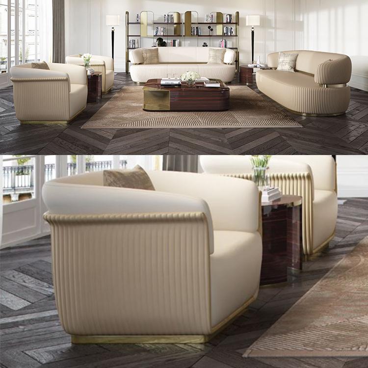 2019年新款 意大利 capital collection  Bon ton sofa 邦顿沙发不锈钢面包肥胖压线沙发
