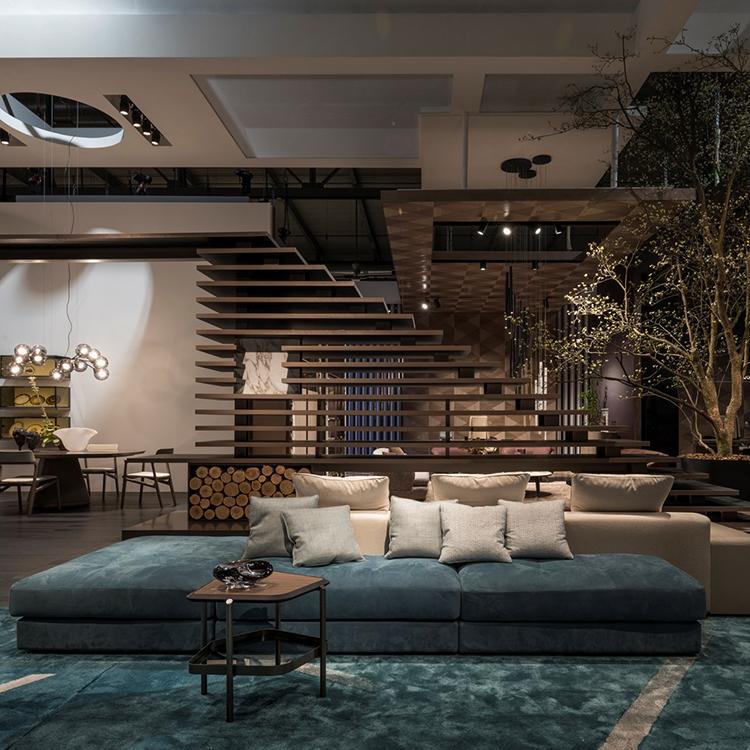 意大利 giorgetti  SKYLINE Sofa  Carlo Colombo 天际沙发组合双面座人集体商场公共带茶几五金实木