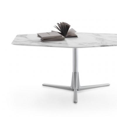 2018年新品 Carlo Colombo意大利 Flexform SVEVA  Tea table异形脚不锈钢金属大理石实木茶几桌子