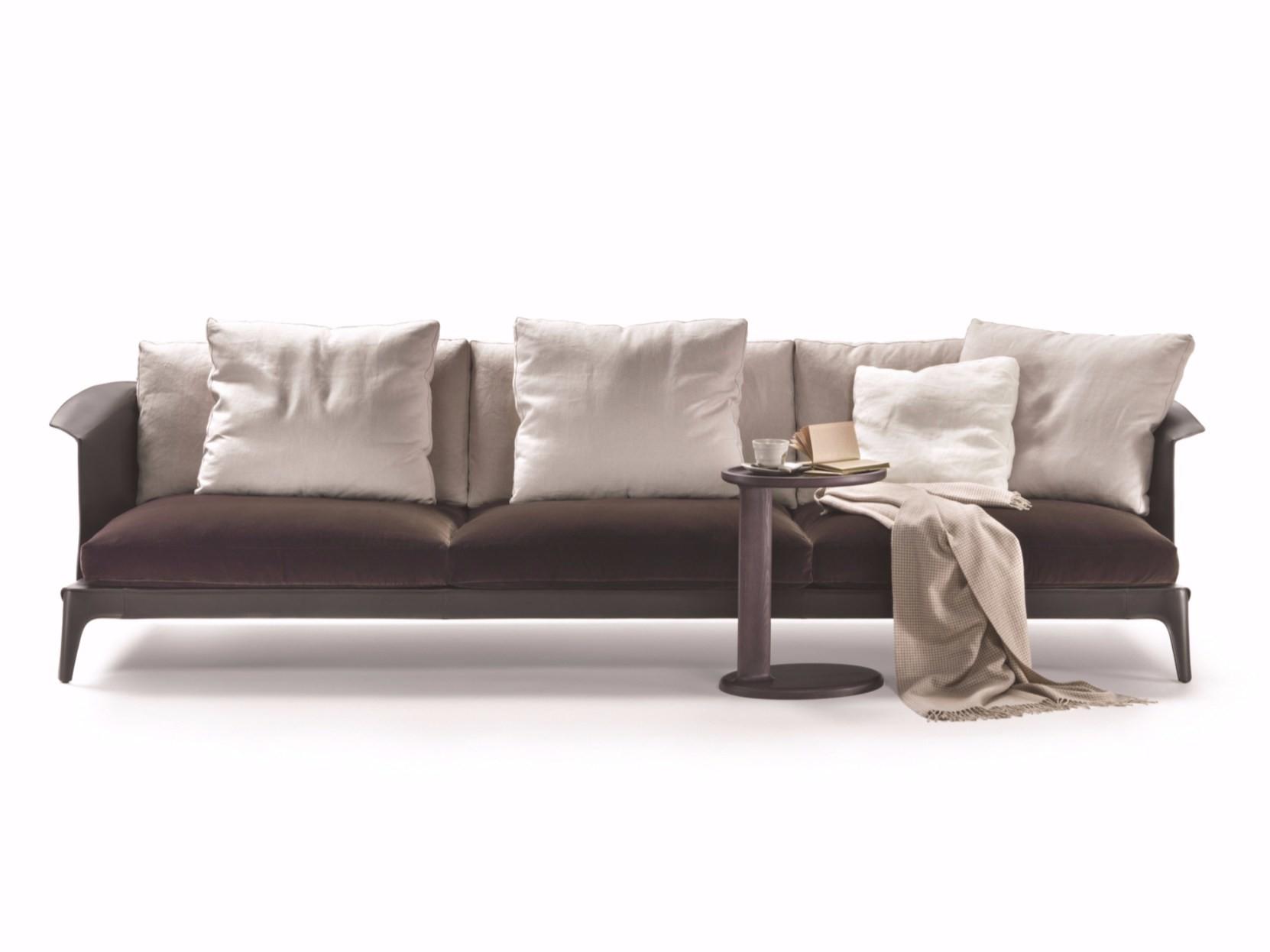马鞍皮双人三人沙发椅 意大利 Flexform Isabel sofa 硬皮沙发Carlo Colombo
