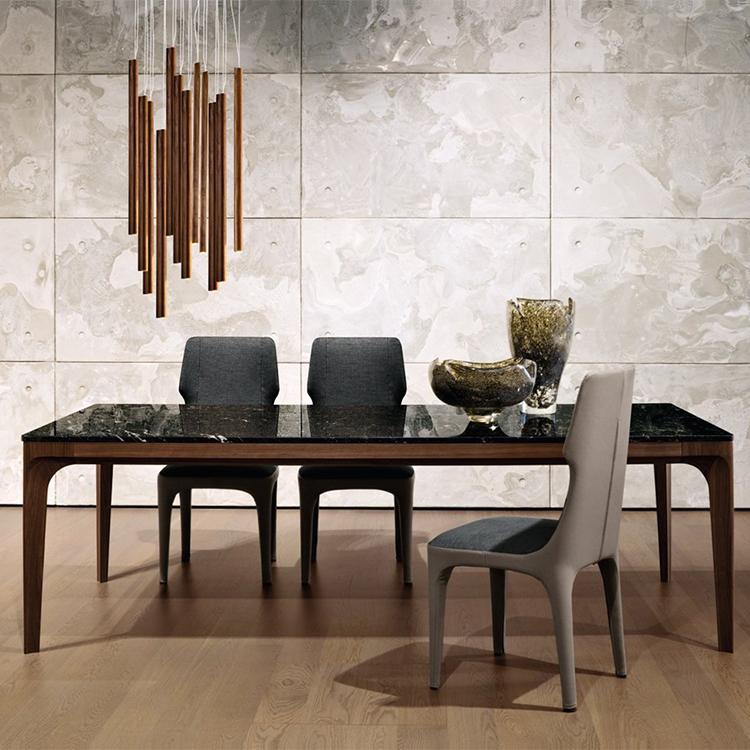 意大利 GiorgettiAnteo table by Carlo Colombo 长方形桌子会议餐桌 办公桌 实木金属大理石