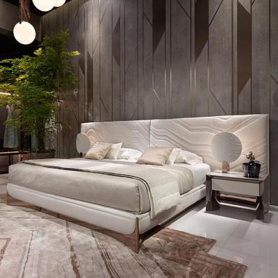 Visionnaire ALESSANDRO LA SPADA卧室设计案例 CA' FOSCARI  BEDROOM 单人沙发椅置物柜子茶几边几组合床铺床头柜